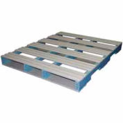 Rackable Extruded Plastic Pallet 48x40 Four-Way Entry 1500 Lb Fork Capacity