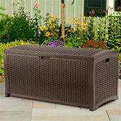 Suncast® Wicker Deck Box, 92 Gallon