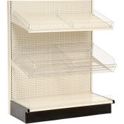 "Lozier - Gondola Shelving, 48""W x 25""D x 84""H Single Side - Wall Starter"