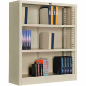 "All Steel Bookcase 36"" W x 12"" D x 42"" H Putty 3 Openings"