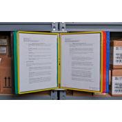 Tarifold® Magnetic Wall Unit Starter Set, 10 Assorted Color Pockets