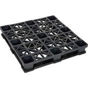 Rackable Plastic Pallet 43x43, 2600-5300 Lbs Cap.