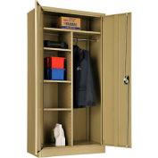 "Global™ Combination Cabinet Assembled 36""W x 18""D x 72""H Tan"