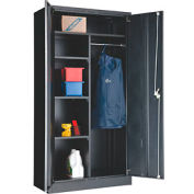 "Global™ Combination Cabinet Assembled 36""W x 18""D x 72""H Black"
