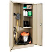 Global™ Janitorial Cabinet Assembled 36x18x72 Tan