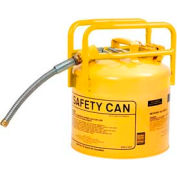 """Eagle D.O.T. Approved Transport Can w/7/8"""" Flexible Hose Type II Yellow 5 Gal., 1215Y"""