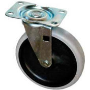 "Replacement 5"" Swivel Caster 4501-L2 for Rubbermaid® Plastic Service Carts"