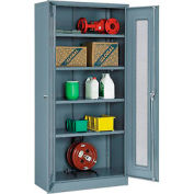 Global™ Storage Cabinet With Expanded Metal Door Unassembled  36x18x78 Gray