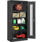 "Global™ Storage Cabinet With Expanded Metal Door Unassembled 36""W x 18""D x 78""H Black"
