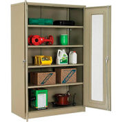 Global™ Storage Cabinet With Expanded Metal Door Assembled  48x24x78 Tan