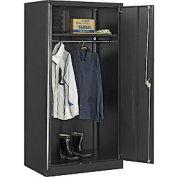 Global™ Wardrobe Cabinet Assembled 36x24x72 Black