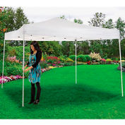 "Portable Straight Leg Pop Up Canopy, 10'L x 10'W x 10'1""H, White"