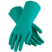 PIP Flock Lined Unsupported Nitrile Gloves, 15 Mil, Green, L, 1 Pair - Pkg Qty 12