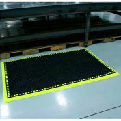 "Workmaster II Anti-Fatigue Mat 3 Side Border 38""x124"" High Visibility Yellow"