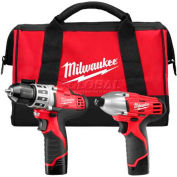 Milwaukee 2494-22 M12 Cordless 2-Tool Combo Kit