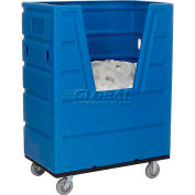 Global Industrial™ Hopper Front Plastic Bulk Truck, 43 Cu. Ft., Blue