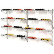 "Wine Bottle Rack - Wall Mount 104 Bottle 96"" x 14"" x 54"""