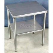 "DC Tech Standalone Table W/ 14 Ga 304 Stainless Steel, 24""W x 20""D, Gray"