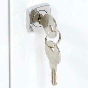 Global Industrial™ Replacement Keys For Medicine Cabinet Model 269940, Set Of 2