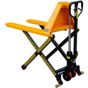 "Wesco® Telescoping Manual High Lift Pallet Truck 272976 3300 Lb. 27"" Forks"