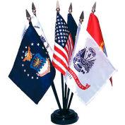 Ensemble de drapeaux des forces armées, ensemble de 6, 4 po x 6 po