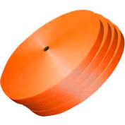 """Woven Polyester Strapping 1-1/2"""" x .050"""" x 600' Orange - Pkg Qty 4"""