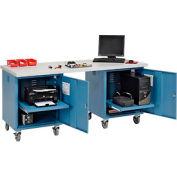 72 x 30 plastique carré bord piédestal Mobile Workbench bleu