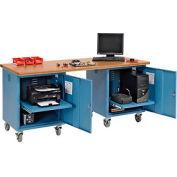 72 x 30 Square Top Shop bord piédestal Mobile Workbench bleu