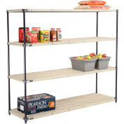 Vented Plastic Shelving 72x21x63 Nexelon Finish