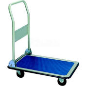 "Wesco® Folding Handle Steel Platform Truck 272238 29x19 4"" Rubber Casters"