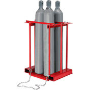 Global Industrial™ Forkliftable Cylinder storage Caddy, Stationary For 4 Cylinders