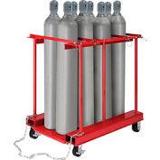Forkliftable Cylinder Storage Caddy, Mobile For 8 Cylinders