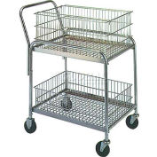 """Wesco® Office & Mail Cart 272228 33x20 4"""" Rubber Casters"""