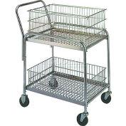 """Bureau Wesco® & Mail Cart 272228 33 x 20 4"""" caoutchouc roulettes"""