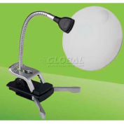 Daylight™ LED Flexilens with Base and Clip, Black