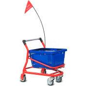 VersaCart® Kiddy EZcart pour panier à provisions en plastique 1 Gallon (28), gris métallisé, qté par paquet : 2