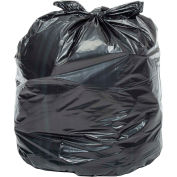 Global Industrial™ Heavy Duty Black Trash Bags - 40 to 45 Gal, 1.0 Mil, 100 Bags/Case