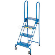 "4 Step 7"" Deep Top Step Lock-N-Stock Folding Aluminum Ladder - ALS4247"