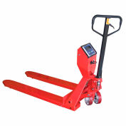 Vestil Low-Profile Pallet Jack Truck with Scale PM-2748-SCL-LP 27-1/2 x 48 5000 Lb.