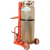Wesco® Hydraulic Lift Liquid Cylinder Cart with Hand Brake 240251 1000 Lb.