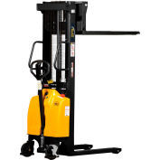 "Vestil Combination Battery Powered & Hand Pump Lift Stacker SE/HP-98 98"" Lift"
