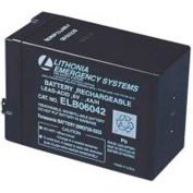 Lithonia ELB 06042 Replacement Lead Calcium Battery, 6V 4.2AH