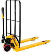 Best Value Pallet Jack Truck with Installed Cargo Backrest 5500 Lb. Cap 27 x 48