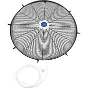 "Front Fan Grille With Misting Feature For 24"" Pedestal and Wall Mounted Fan"