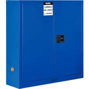 "Global Industrial™ Acid Corrosive Cabinet - 24 Gallon - Manual Close 43""W x 12""D x 44""H"