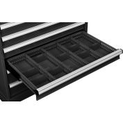 """Global Industrial™ Dividers for 4""""H Drawer of Modular Drawer Cabinet 36""""Wx24""""D, Black"""