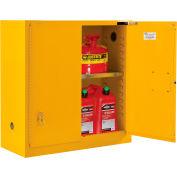 "Global Industrial™ Flammable Cabinet - 30 Gallon - Self Close Door - 43""W x 18""D x 44""H"