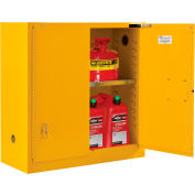 "Global Industrial™ Flammable Cabinet, Self Close Double Door, 30 Gallon, 43""Wx18""Dx44""H"