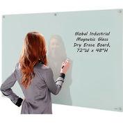 Tableau blanc en verre magnétique,72 x48, blanc