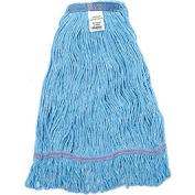 Global Industrial™ Large Blue Looped Mop Head, Narrow Band